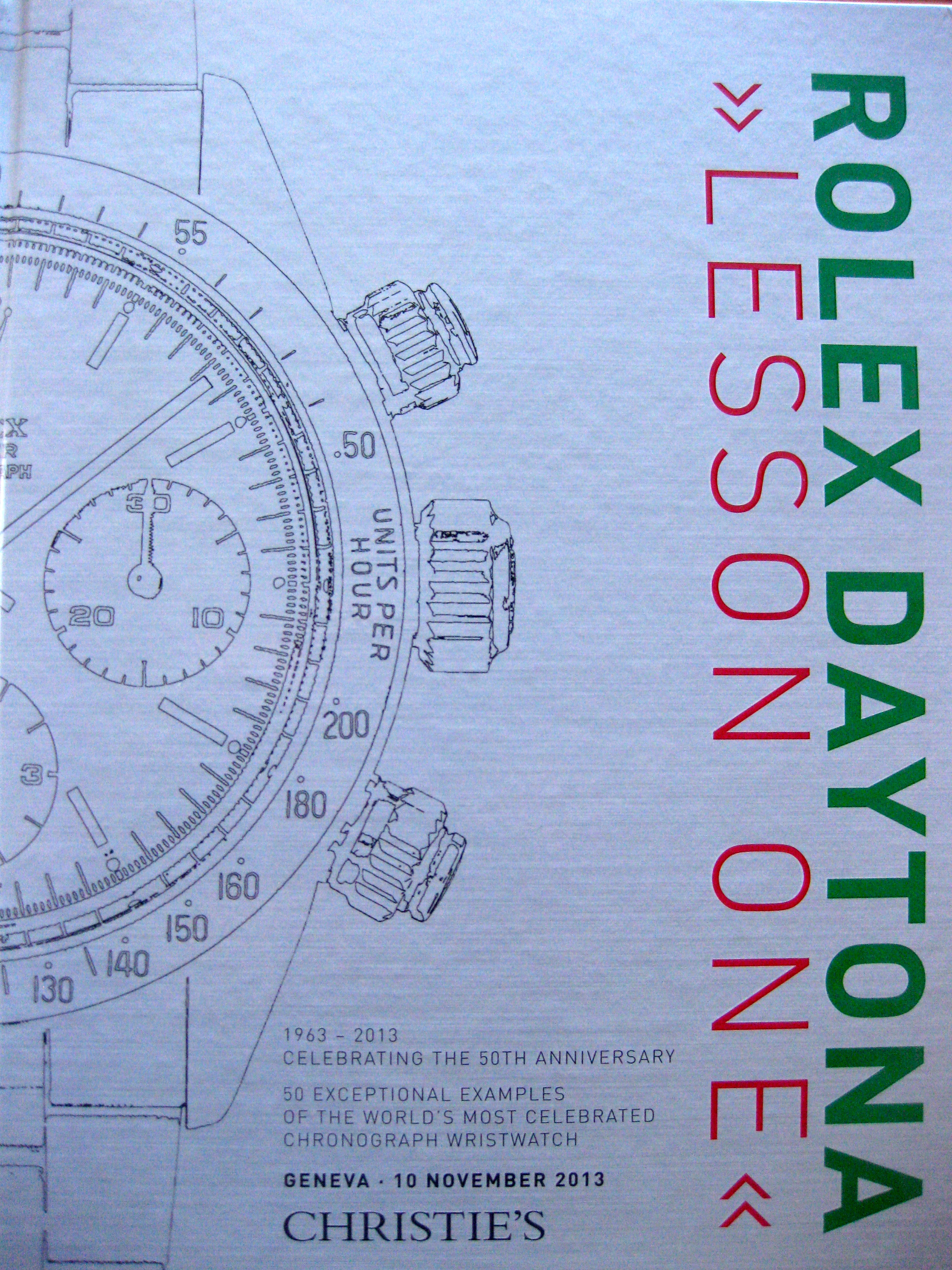 Christie´s Rolex Daytona Lesson One