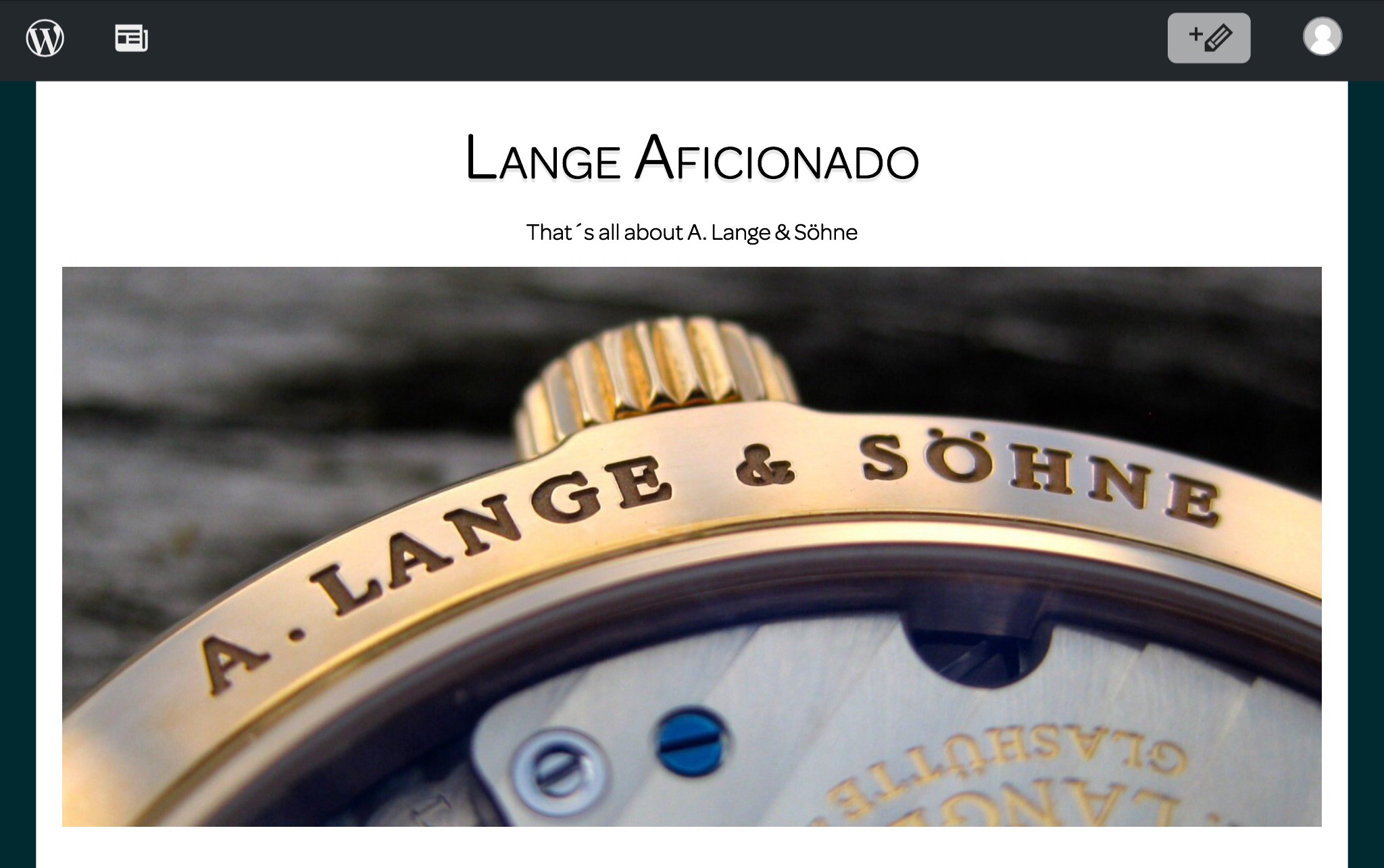 Lange Aficionado – That's all about A. Lange & Söhne