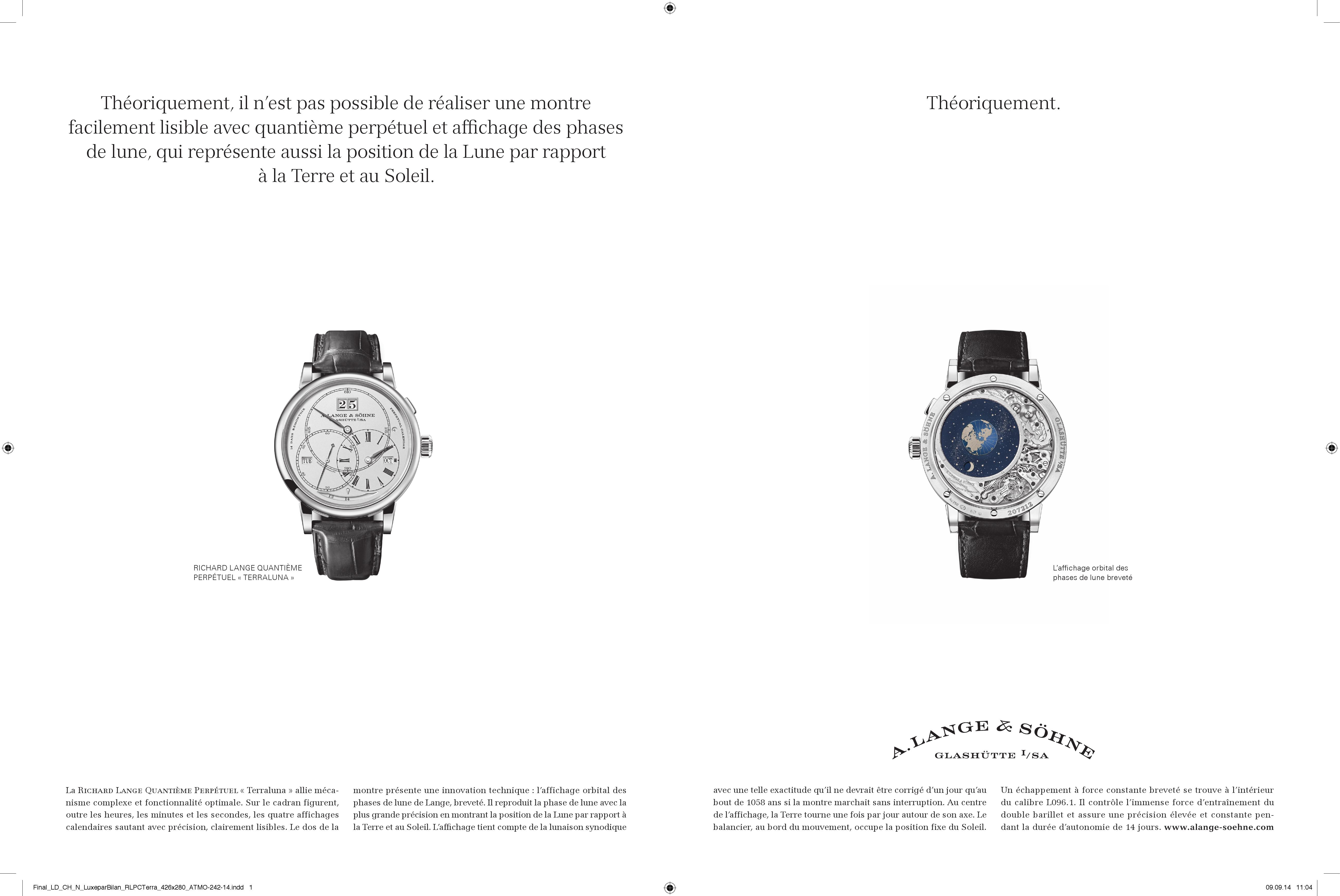 A. Lange & Söhne – Werbung im Wandel der Zeit – 2011 bis heute